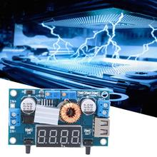 5A DC to DC CC CV Lithium Battery Step down Charging Board Volt Reducer Board Blue LED Display frequency With crystal case
