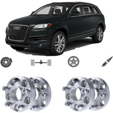 Teeze 4pcs 5X130 71.6CB 30mm Thick Hubcenteric Wheel Spacer Adapters For Audi Q7 2006 2014