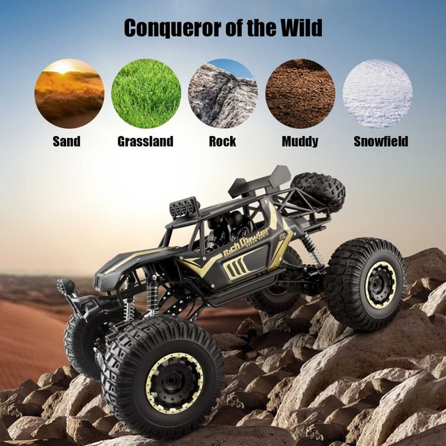 1:8 50cm RC Car 2.4G Radio Control 4WD Off-road Electric Vehicle Monster Buggy Remote Control Car Gift Toys For Children Boys 3