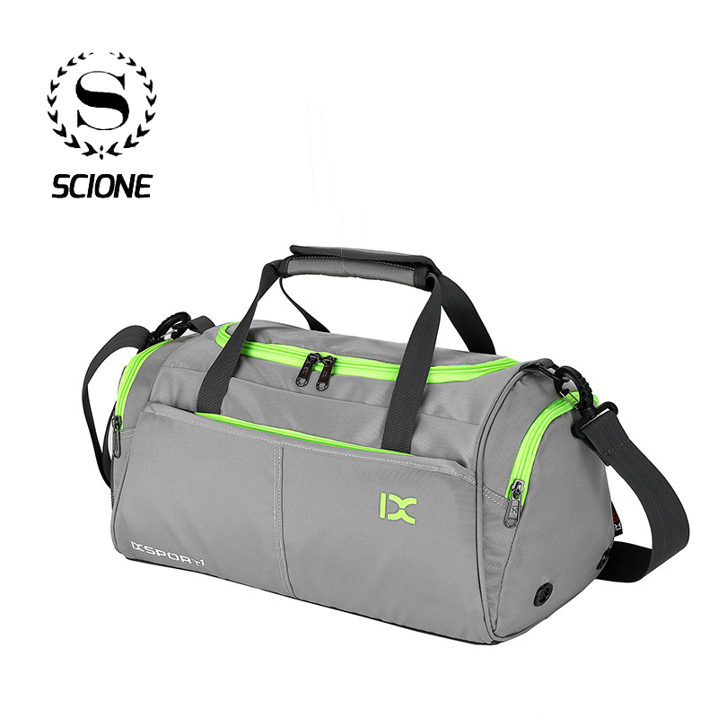 Scione Luggage Travel Bags Multifunction Training Handbag Panelled Luggage Gym Weekend Crossbody Shoe Storage Suitcase