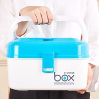 Household multi layer large portable medicine box plastic medicine storage box family children small medical box first aid kit
