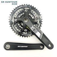 New Stock ST Alloy Aluminum 8 Tread ISIS Drive MTB Bicycle Crank 44/32/22T Mountain Bike Crankset