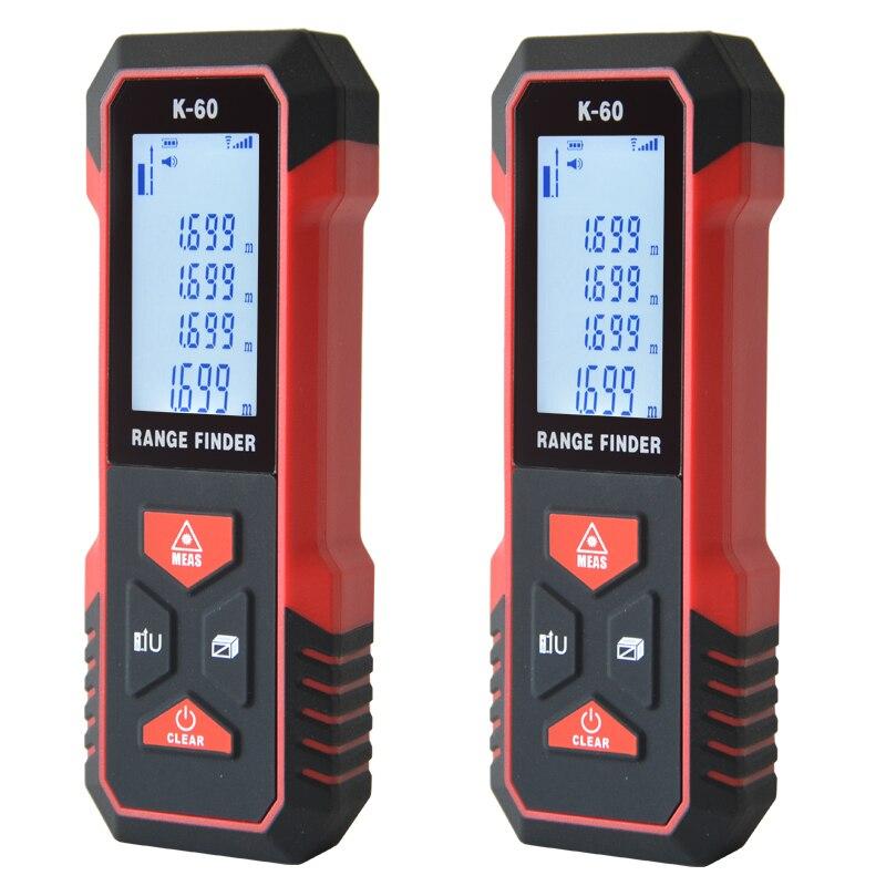 TECLASER Laser Meter 40M 60M Laser Distance Meter Laser Rangefinder Laser Measure Tape Range Finder Digital Measuring DeviceTape