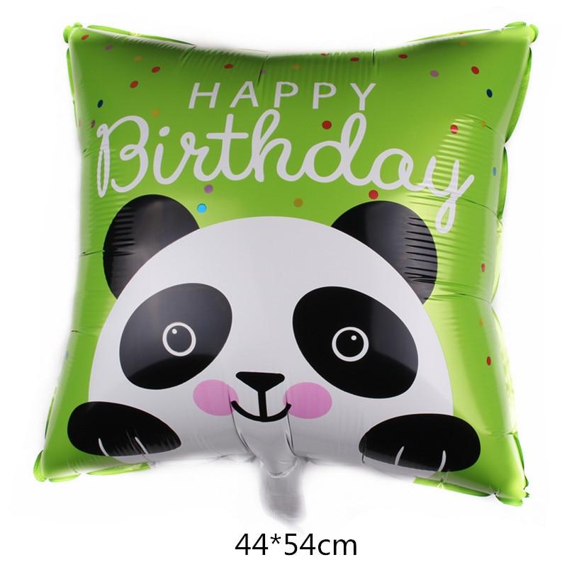 Animal Balloons Birthday Party Decoration Lion Head Panda Zoo Foil Balloon Holiday Wedding Kid Gift Baby Toy Cartoon Hat