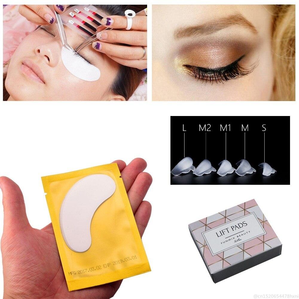 10pcs/5Pair Silicone Eyelash Perm Pad 5ps Eye Patch Rods Shield Lifting Lash Glue 3D Eyelash Growth Treatment Perming Tool TSLM1