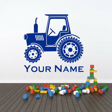 Personalised Name Or Text Tractor John Deere Style Wall Sticker Vinyl Home Decor Kids Room Boys Bedroom Cartoon Decals 3814