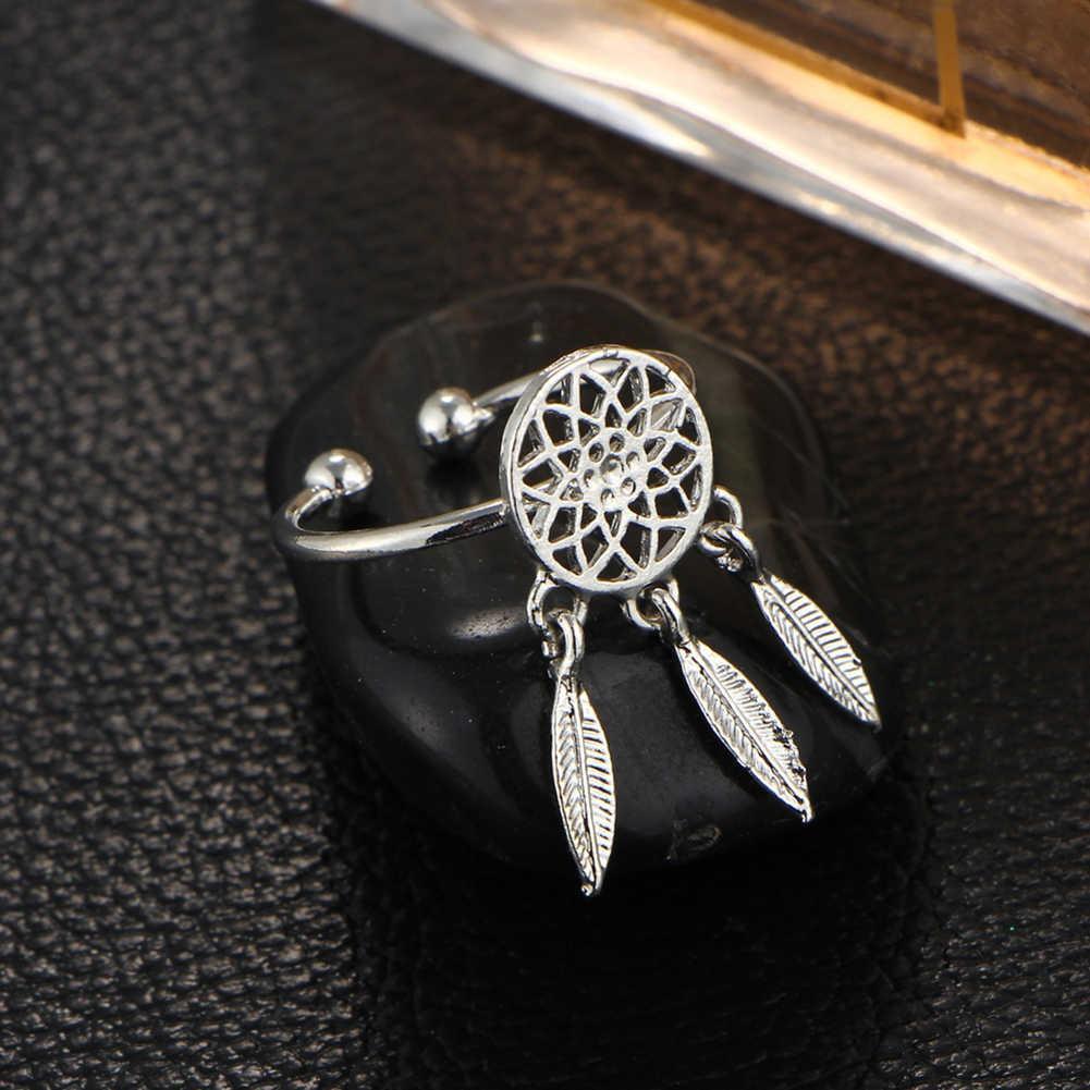 חלול חלום התפסן ציצית שרשרת/עגילים/טבעת/צמיד נשים תכשיטי סט חדש שיק