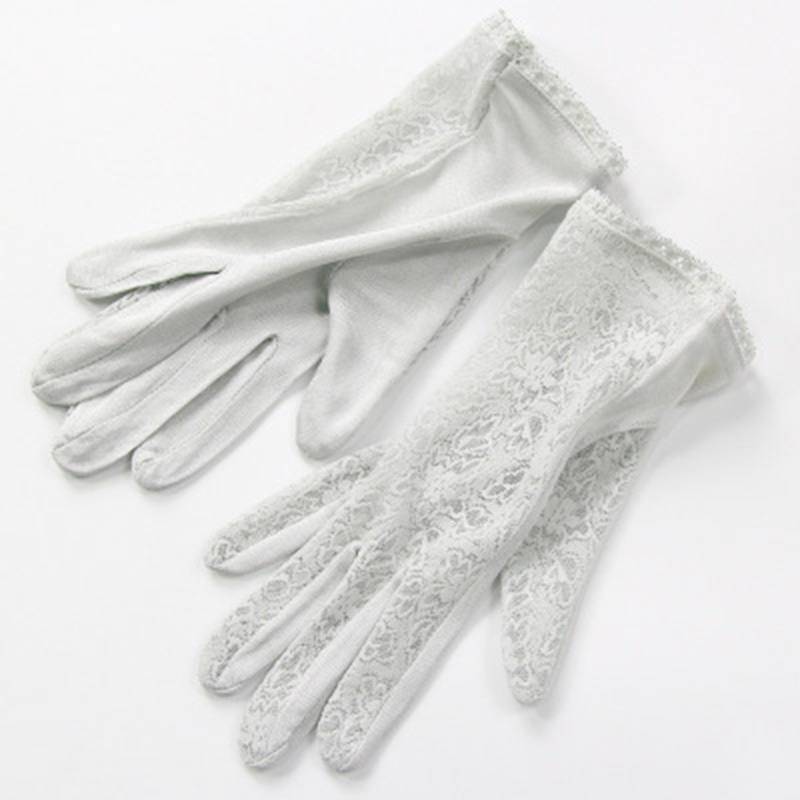 Elegant Ladies High Quality 100 Silk Knit Gloves Summer Anti-UV Thin Section Breathable Sleep Moisturizing Lace Gloves K5