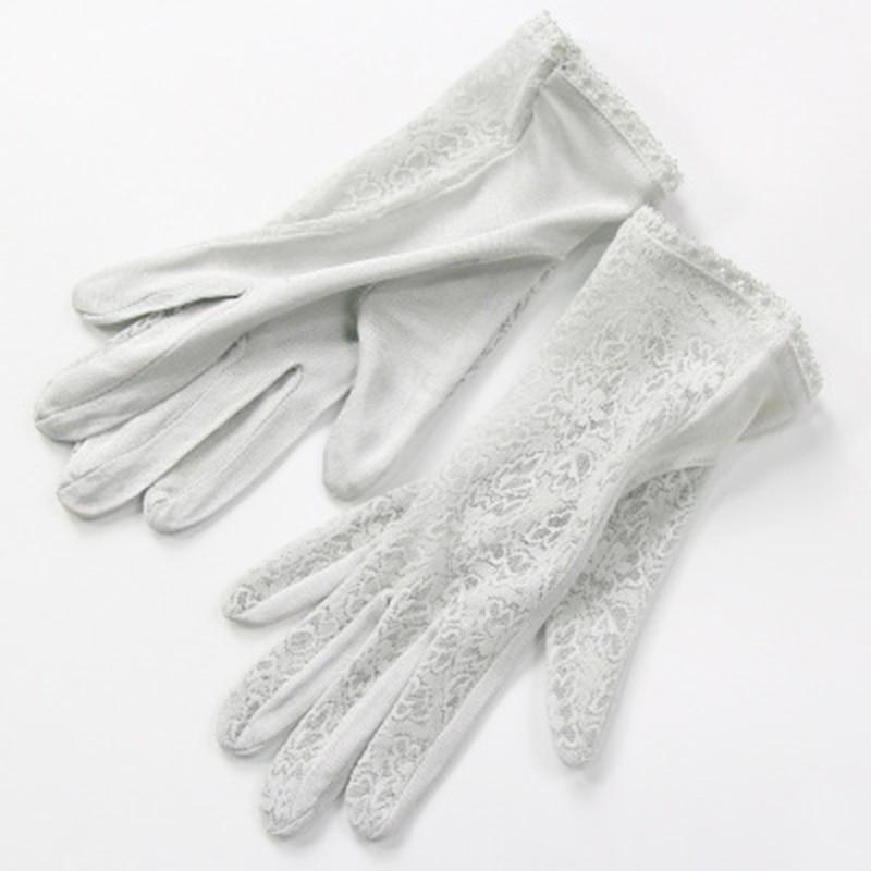 Elegant Ladies High Quality 100 Silk Knit Gloves Summer Anti-UV Thin Section Breathable Sleep Moisturizing Lace Gloves K5