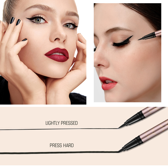 O.TWO.O 24 Hours Lasting Eyeliner Liquid Black Color Waterproof Eye Liner Pencil Smudge-Proof Cosmetic 1