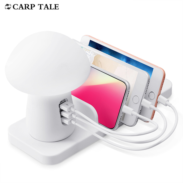 10w Wireless charger With light charging station holder QC3.0 USB phone accessories for apple samsung huawei xiaomi oneplus 1