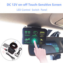 DC 12V 6 Gang on-off Touch-Sensitive Screen LED Electronic Relay System Button Switch Waterproof Fuse Relay Box For Car Au