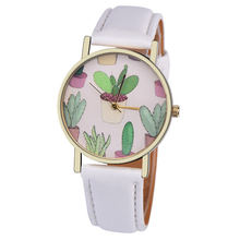 цена на PESIRM Bussiness Kol Saati Cactus Potted Pattern Quartz Men's Watches Bayan Kol Saaty Fashion