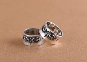Image 4 - Handgemaakte 925 Zilveren Tibetaanse Wijsheid Ogen Ring Boeddhistische Hemel Ogen Ring Buddha Ogen Ring Resizable