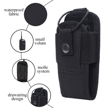Tactical Molle Radio Pouch Military Walkie Talkies Holster Bag Waist Bag Holder Pocket Interphone Holster Carry Bag For Hunting 5