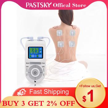 12 15 tryby Tens Unit EMS stymulacja mięśni masaż niska częstotliwość Pulse Machine z 4 elektrodami na ulga w bólu Massagem tanie i dobre opinie PASTSKY CN (pochodzenie) BODY 110 v UE Wtyczka