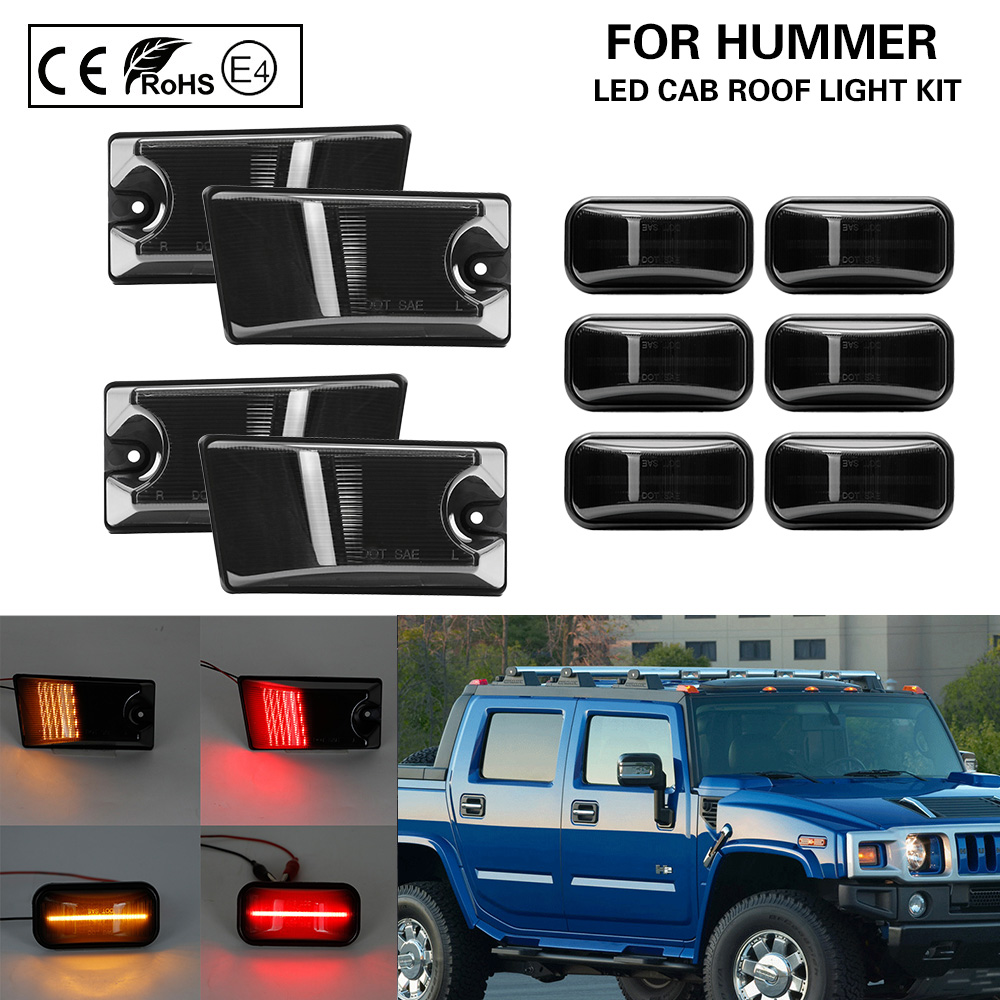 Hummer H2 ROOF LIGHT GUARDS covers chrome 2003-2009