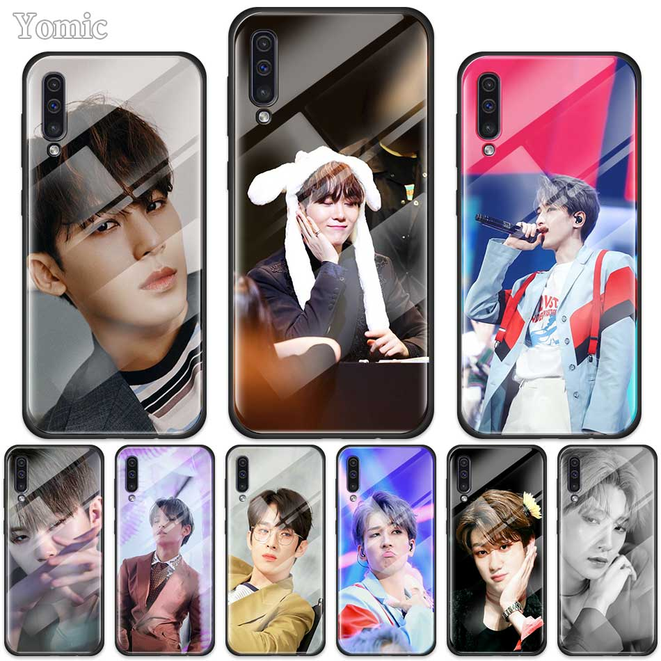 Seventeen <font><b>Kpop</b></font> Case for <font><b>Samsung</b></font> Galaxy A50 A70 A10 A20 A30 S J4 <font><b>J6</b></font> <font><b>Plus</b></font> M30s Tempered Glass Phone Cover Soft Edge <font><b>Coque</b></font> image