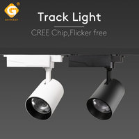 Industrial Adjustable LED Track Light 12W 25W COB Rail Spotlight Shoes Clothes Shore Luminaire Fixture Home Showroom Shop Lamp