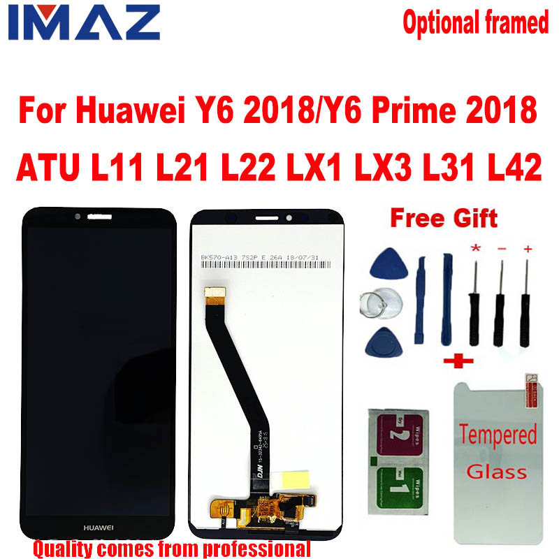 IMAZ For Huawei Y6 2018  Y6 Prime 2018/Y6 PRO LCD Display Touch Screen Digitizer For Huawei Honor 7A LCD ATU L11 L21 L22 LX1 LCD