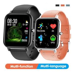 Image 1 - 2019 전자 풀 터치 여성 남성 스마트 시계 심장 박동 블루투스 방수 시계 스포츠 Smartwatch for IOS Android