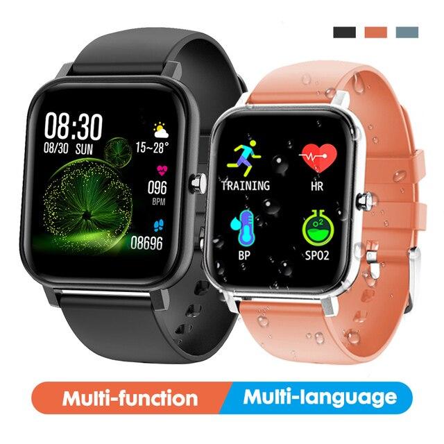 2019 전자 풀 터치 여성 남성 스마트 시계 심장 박동 블루투스 방수 시계 스포츠 Smartwatch for IOS Android