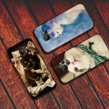Cool cat Soft Silicone Phone Case For Samsung A3 4 5 6 Plus 7 8 910 20 30 40 50 60 70 2018 M40 J6 Coque(China)