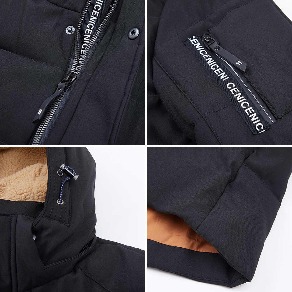 Blackleopardwolf 2019 yeni varış kış ceket erkekler kalın pamuklu yüksek kaliteli kaput aşağı ceket kış için zip ile ZD-B325