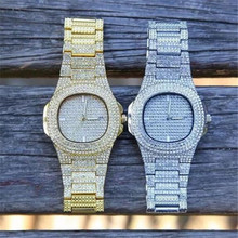 5 Colors Men Iced Out Watches Luxury Date Quartz Wrist Watches