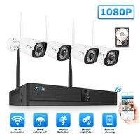Zoohi система видеонаблюдения беспроводная система наблюдения комплект 1080P 2MP домашняя камера безопасности Система wi-fi-камера для использова...