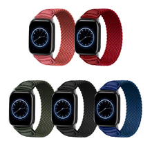 Loop-Strap Bracelet Iwatch Braided Solo Elastic 6-Band for Apple 44mm 40mm 38mm 42mm
