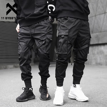 11 BYBB'S DARK  Men Joggers Pants Multi-pocket Elastic Waist Harem Pants Men Hip Hop Streetwear Sweatpants Pencil Pants Techwear 1