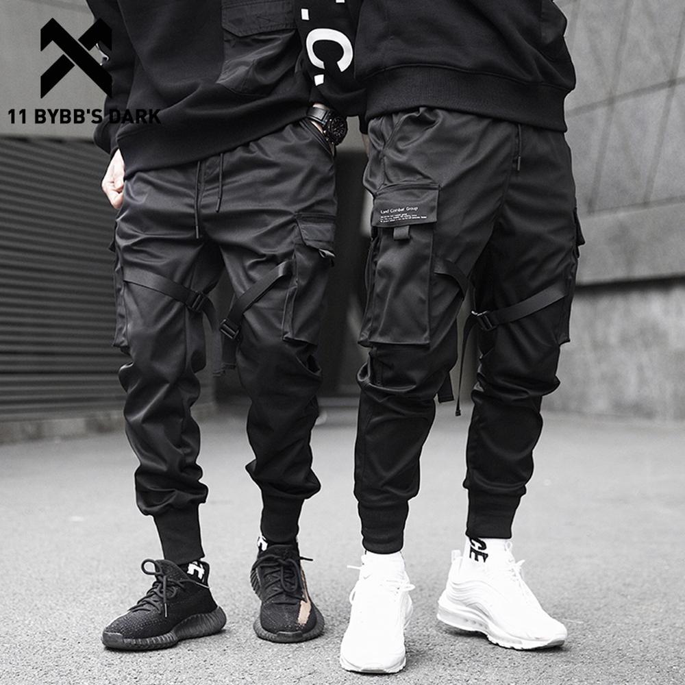 Джоггеры 11 BYBB'S DARK мужские, брюки-султанки со множеством карманов, с эластичным поясом, уличная одежда в стиле хип-хоп, спортивные брюки-каран...