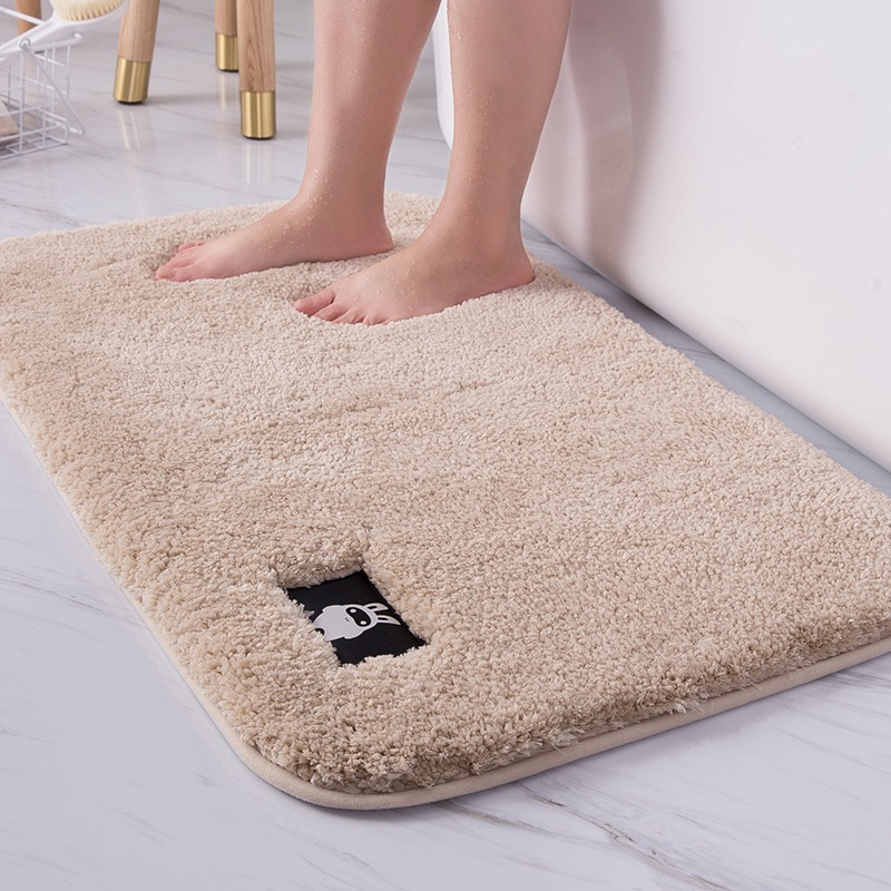 Bathroom toilet door absorbent floor mat