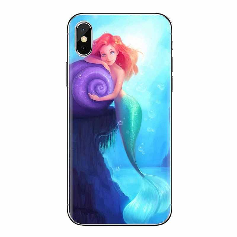 Ariel Putri Laut Gadis Putri Duyung untuk Samsung Galaxy S2 S3 S4 S5 Mini S6 S7 Edge S8 S9 Plus Catatan 2 3 4 5 8 Coque Fundas Soft Case