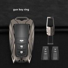 Copertura della cassa chiave in lega di zinco dellautomobile per Toyota Camry CHR C HR Prado Avalon Prius Corolla RAV4 2/3/4 pulsante accessori interni Auto