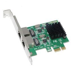 PCI Express PCI-e Scheda di Rete 2 porte 1000Mbps Gigabit Ethernet 10/100/1000M RJ-45 Adattatore LAN convertitore Controller di Rete