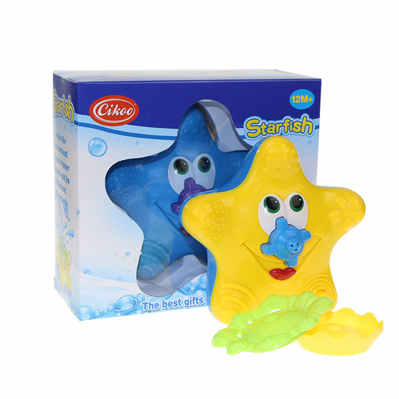 1pcs Baby Bath Toy Water Squirter Splash Spray Starfish Rotate Infant Interactive Education Bathroom Tub Doll For Kid Children