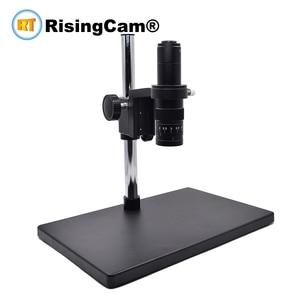 Image 1 - Zoom 0,7 x 4,5 x Monokulare Zoom Stereo mikroskop 0,5 X C montieren industrical objektiv für PCB telefon reparatur