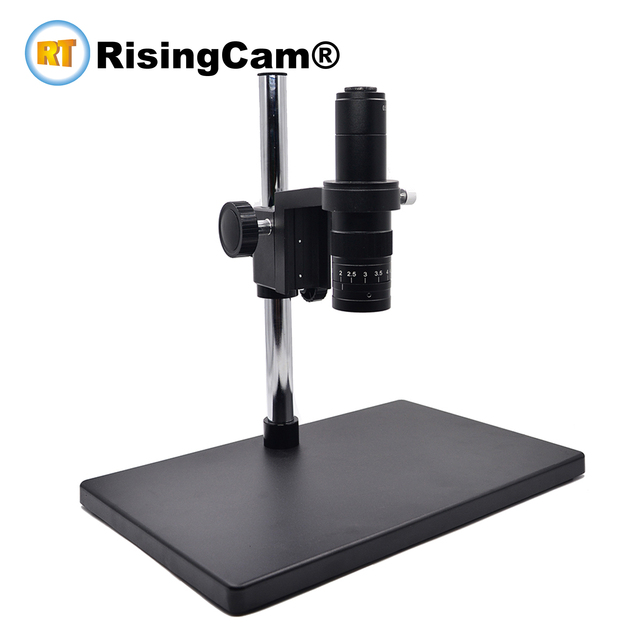 Zoom 0,7 x 4,5 x Monokulare Zoom Stereo mikroskop 0,5 X C montieren industrical objektiv für PCB telefon reparatur