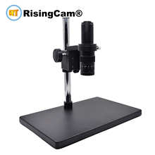 Zoom 0.7x 4.5x Monocular Zoom Stereo microscope 0.5X C mount industrical lens for PCB phone repair