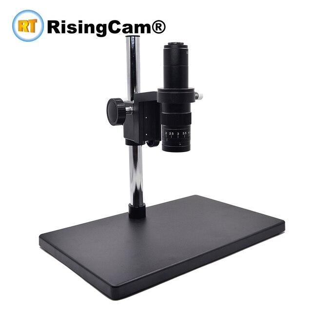 Zoom 0.7x 4.5x monoculaire Zoom microscope stéréo 0.5X C monture lentille industrielle pour la réparation de téléphone PCB