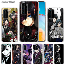 Black Deacon Anime Silicone Case for Huawei P40 Pro+ P20 P30 Lite P20 Pro p10 p20 p30 P40 Lite P Smart Pro 2019 Cover silicone cases for huawei p40 pro armor case for huawei p40 p30 p20 p10 for p30 p20 10 lite p30 pro p20 p10 plus hard sell cases