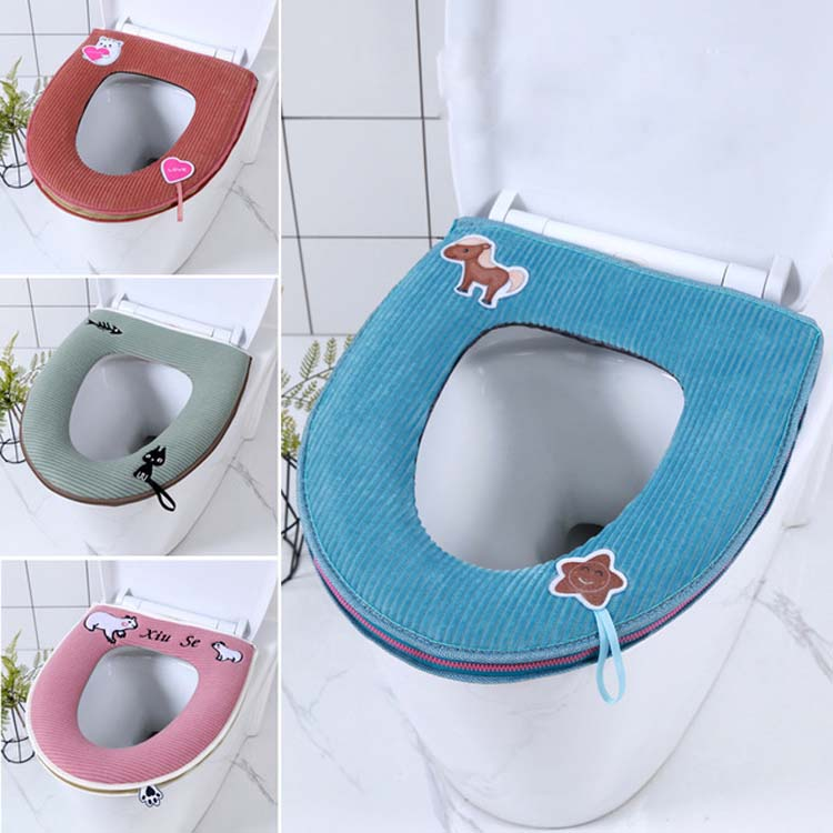 Claw Soft Warm WC Cover Closestool Pads Thick Toilet Lid Case Velvet Seat Cover