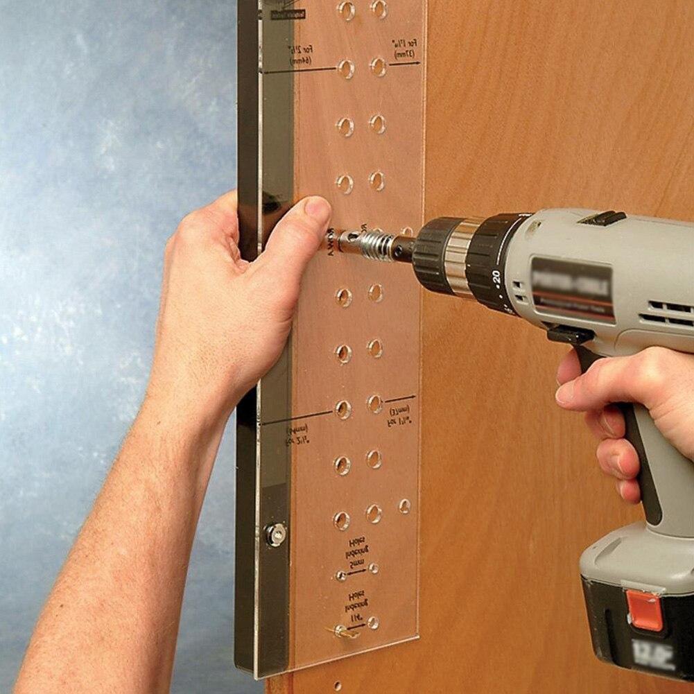 Tool Drilling Jig Bit Shelf Pin Reaming Hinge Mounting Woodworking Mini Self-Centering Multifunctional Furniture Cabinet Door