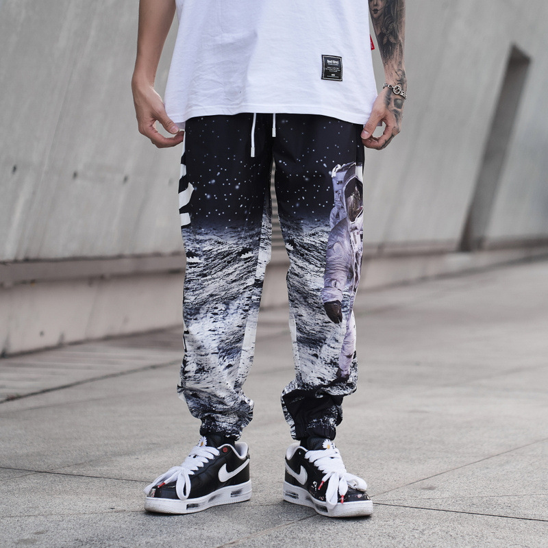 11 BYBB'S DARK Mens Joggers Hip Hop Streetwear Astronaut Moon Print Pants Men Harajuku 2020 Fashion Hiphop Pant Male XN54