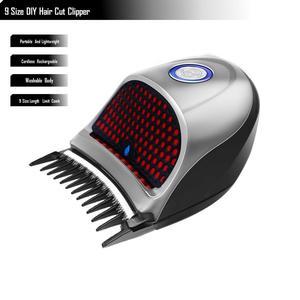 Cortadora de pelo de autoservicio, Afeitadora eléctrica con cabezal afeitado y cortador de pelo para hombres, cortadora de pelo propia