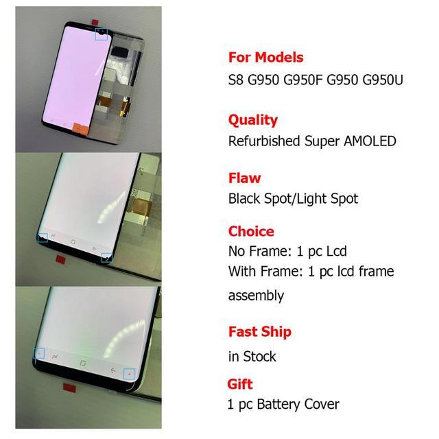サムスンギャラクシー S8 OLED 液晶ディスプレイスクリーン交換 G950 G950U G955F サムスン S8 安い画面表示交換