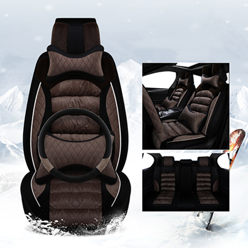 Housse de siège de voiture universelle en peluche hiver coussin de siège chaud pour bmw e46 e36 e39 accessoires e90 x5 e53 f11 e60 f30 x3 e83 housses