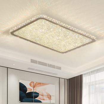 Modern crystal chandeliers Lights Home Lighting ledlamp Living room Bedroom plafonnier Square led chandelier lampadari fixtures